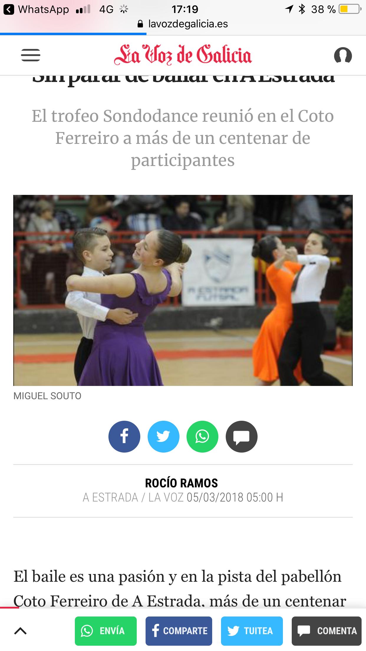 RESULTADOS- Trofeo SondoDance 2018