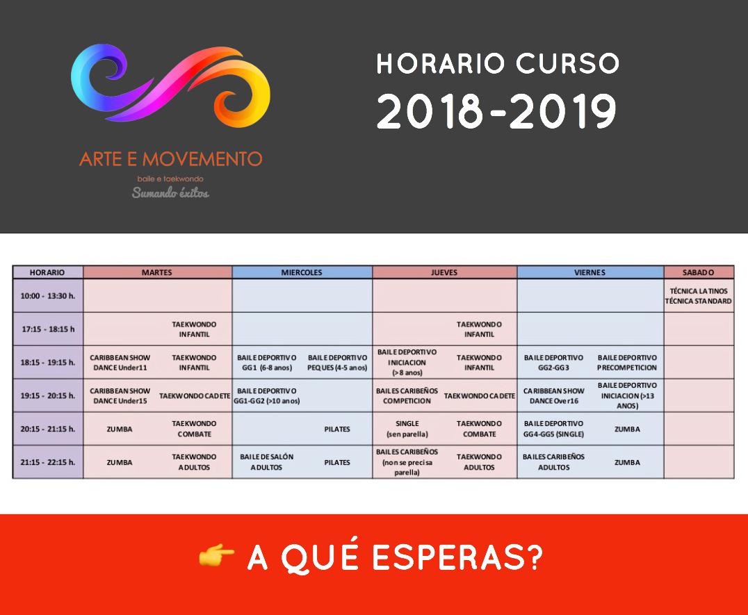 HORARIO 2018-2019 A&M